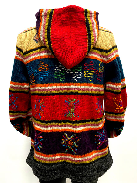 Embroidered Wool knit jacket