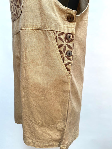 Short Stonewashed cotton overalls