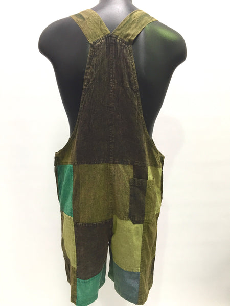 Short Patchwork Overalls