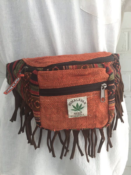 Cotton and hemp bum bag