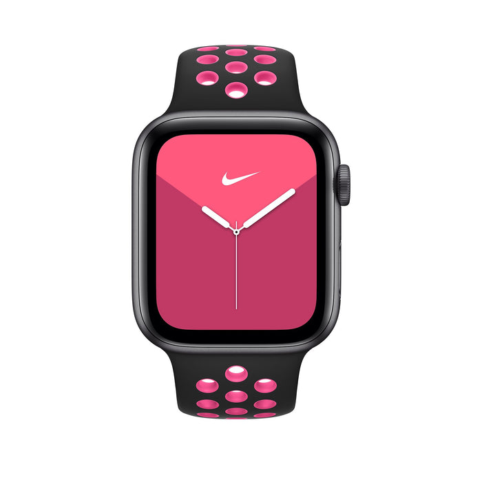 44mm Black/Pink Blast Nike Sport Band