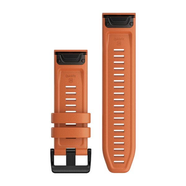 QuickFit 26 Watch Bands - Ember Orange Silicone