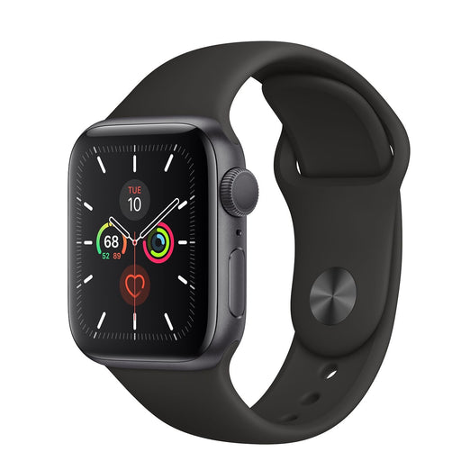Apple Watch Space Gray Aluminum S5 Black Sport Band 40mm⁩