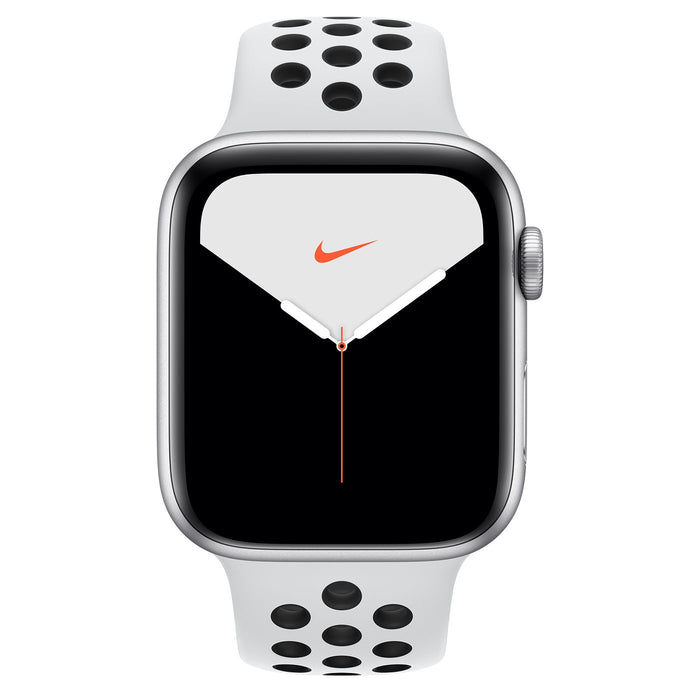 Apple Watch Nike Silver Aluminum Case with Nike Sport Band 44mm⁩ - مع شريحة