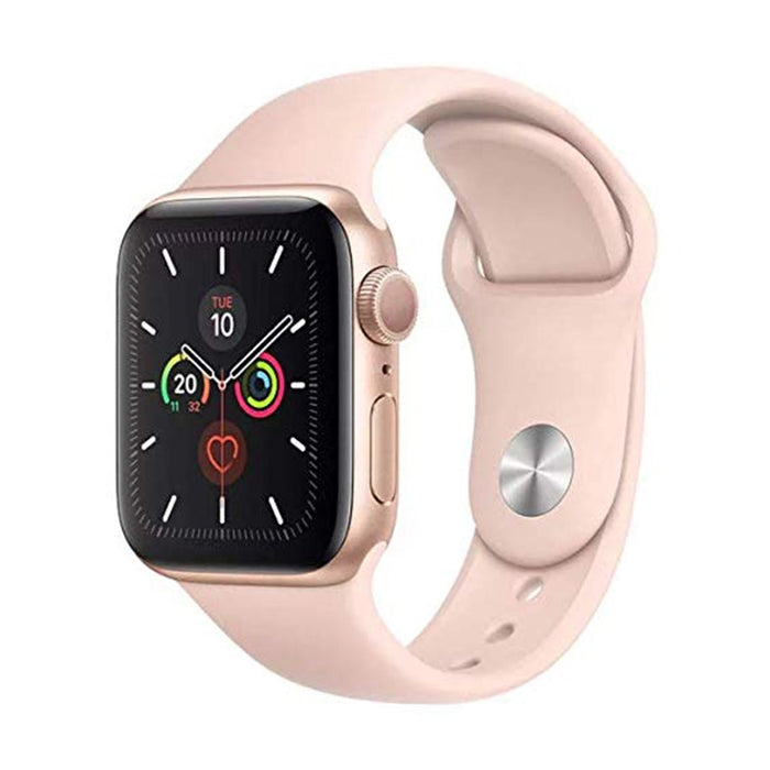 Apple Watch S5 Gold Aluminum Case with Pink Sand Sport Band 44mm - مع شريحة