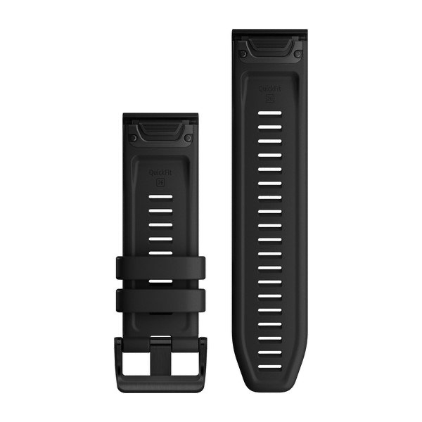 QuickFit 26 Watch Bands - Black Silicone