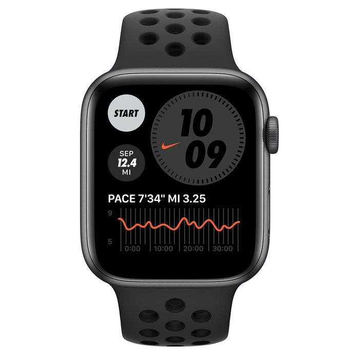 Apple Watch Nike S6 Space Gray Aluminum Case with Sport Band  - Anthracite/Black - 44mm