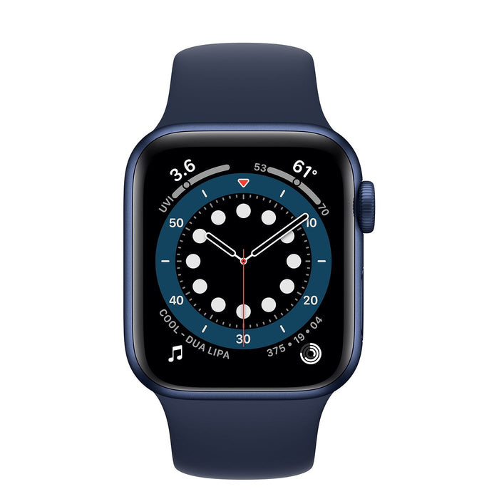 Apple Watch S6 Blue Aluminum Case with Sport Band  - Deep Navy - 40mm