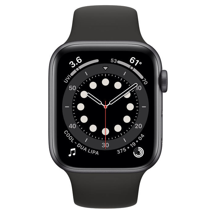 Apple Watch S6 Space Gray Aluminum Case with Sport Band  - Black - 44mm