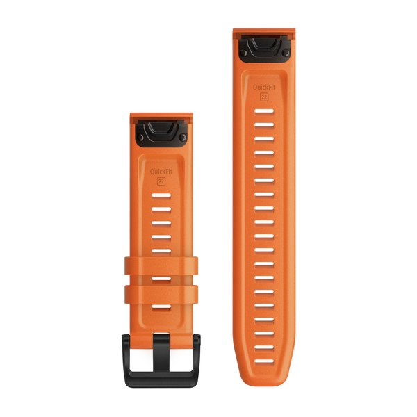 QuickFit 22 Watch Bands - Ember Orange Silicone