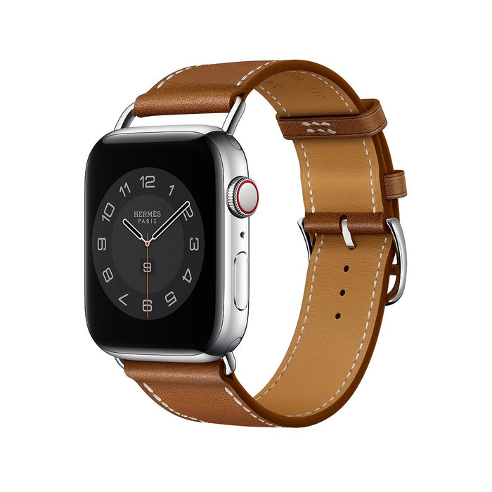 Apple Watch Hermès -  Fauve Barénia Leather Attelage Single Tour - 44mm