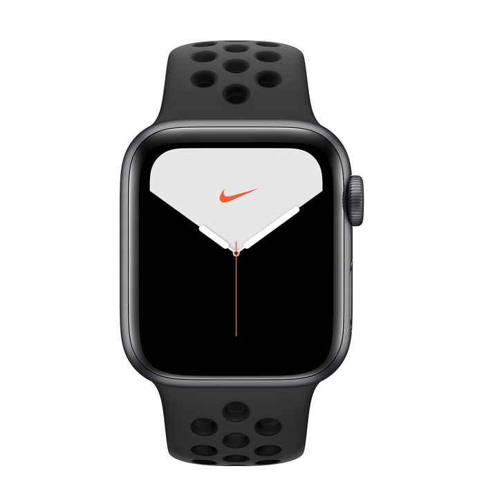 Apple Watch Nike Space Gray Aluminum S5 Nike Sport Band 44mm⁩ - مع شريحة