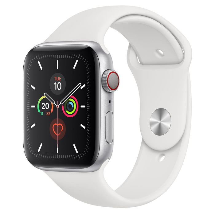 Apple Watch Silver Aluminum Case with Sport Band 44mm - مع شريحة