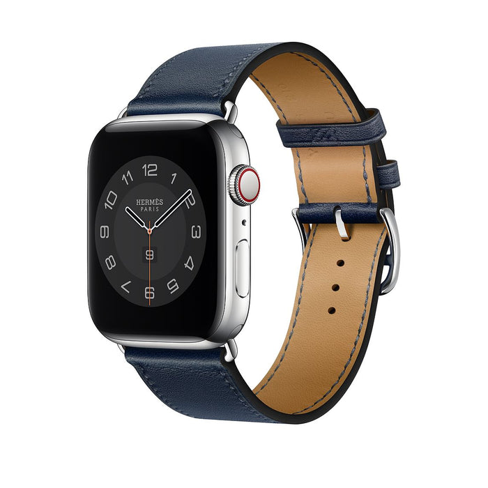 Apple Watch Hermès -  Navy Swift Leather Single Tour - 44mm