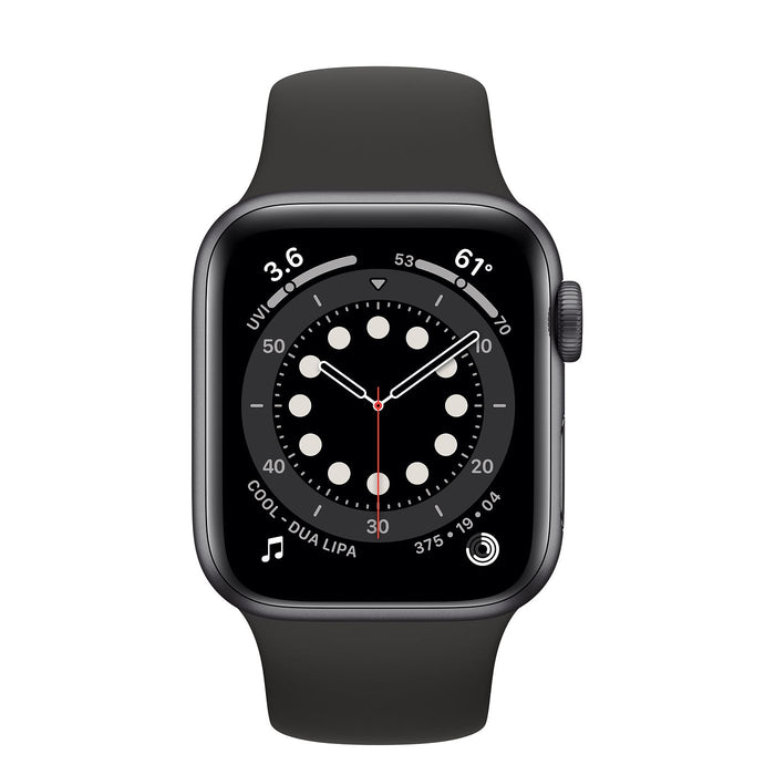 Apple Watch S6 Space Gray Aluminum Case with Sport Band  - Black - 40mm