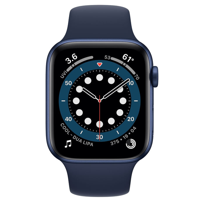 Apple Watch S6 Blue Aluminum Case with Sport Band  - Deep Navy - 44mm