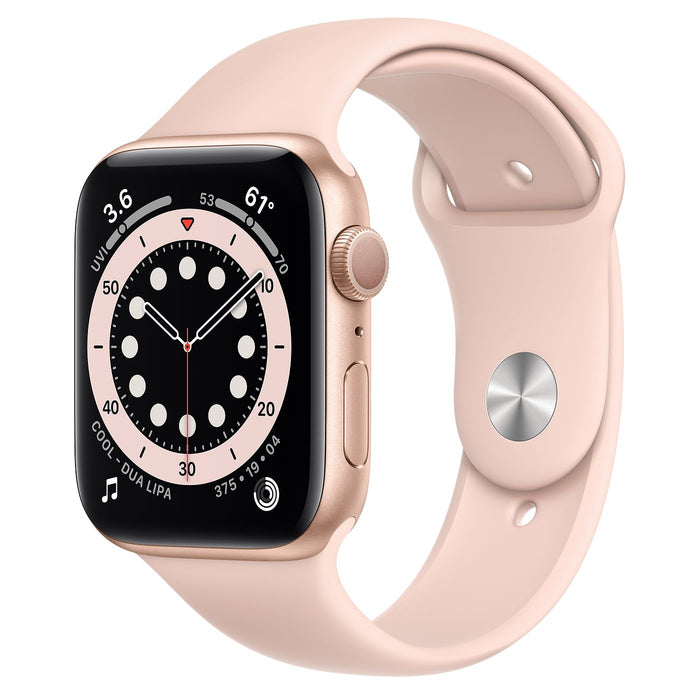 Apple Watch S6 Gold Aluminum Case with Sport Band  - Pink Sand - 44mm
