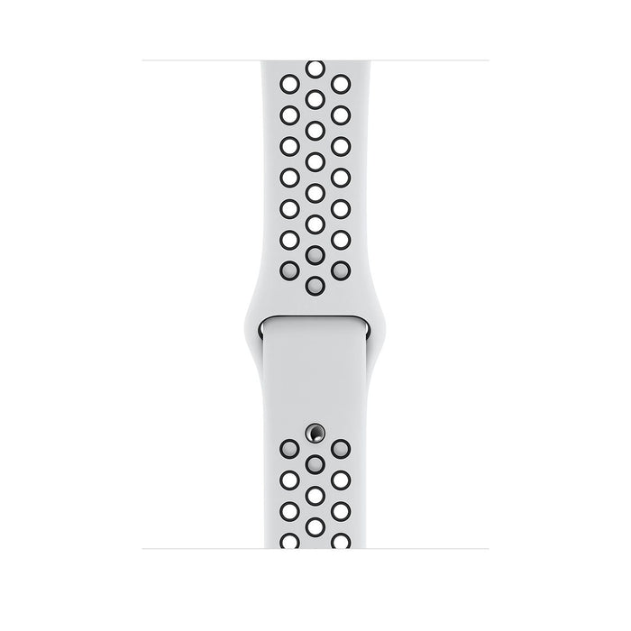 44mm Pure Platinum/Black Nike Sport Band