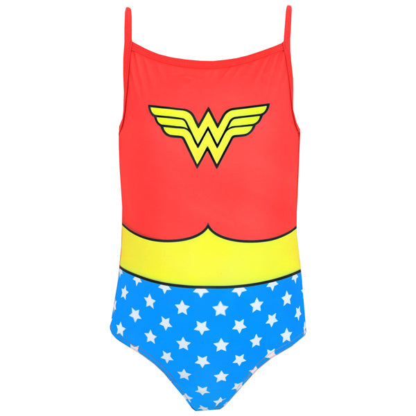 Buy Girls Wonder Woman Swimsuit Kids Character Com Official