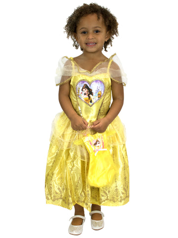 Disney Beauty & The Beast Fancy Dress with Bag - Belle