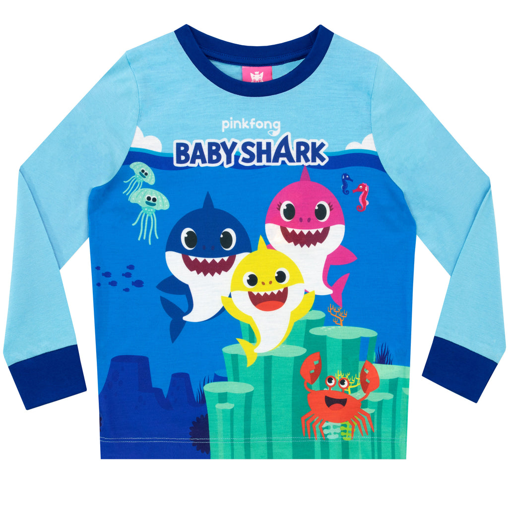 Official Boys Pinkfong Baby Shark Sing Doo Pyjamas