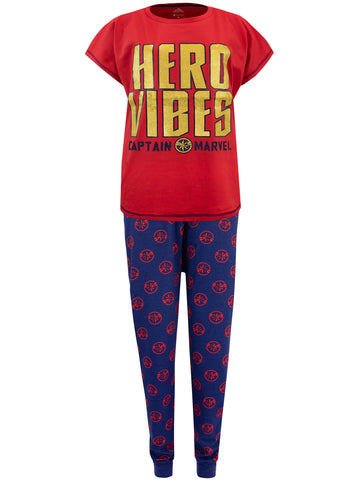 Womens Captain Marvel Pyjamas