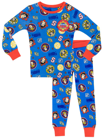 Fireman Sam Snuggle Fit Pyjamas - Sam & Elvis
