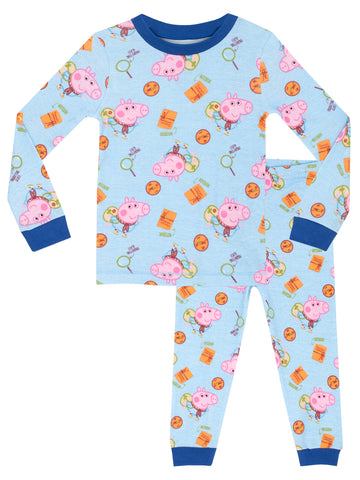 George Pig Snuggle Fit Pyjamas - Explorer