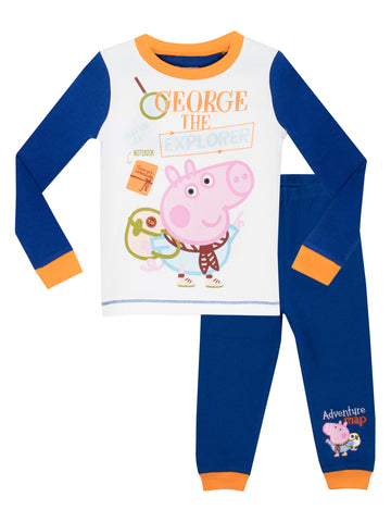 George Pig Snuggle Fit Pyjamas - George the Explorer