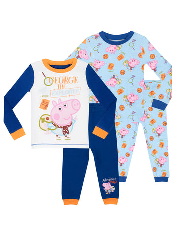 George Pig Pyjamas - 2 Pack
