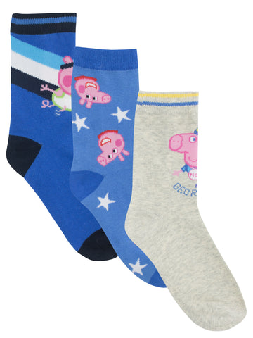 George Pig Socks - Pack of 3