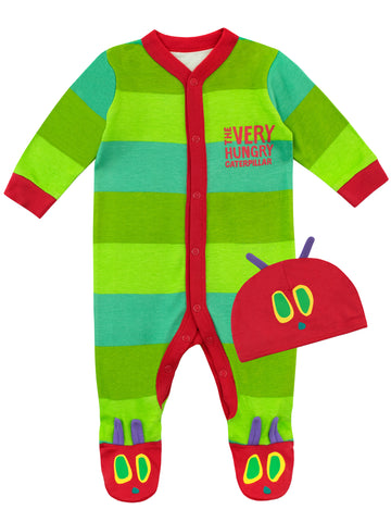 The Very Hungry Caterpillar Baby Sleepsuit & Hat Set