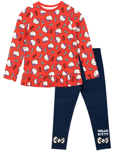 Hello Kitty Long Sleeve Top & Leggings Set