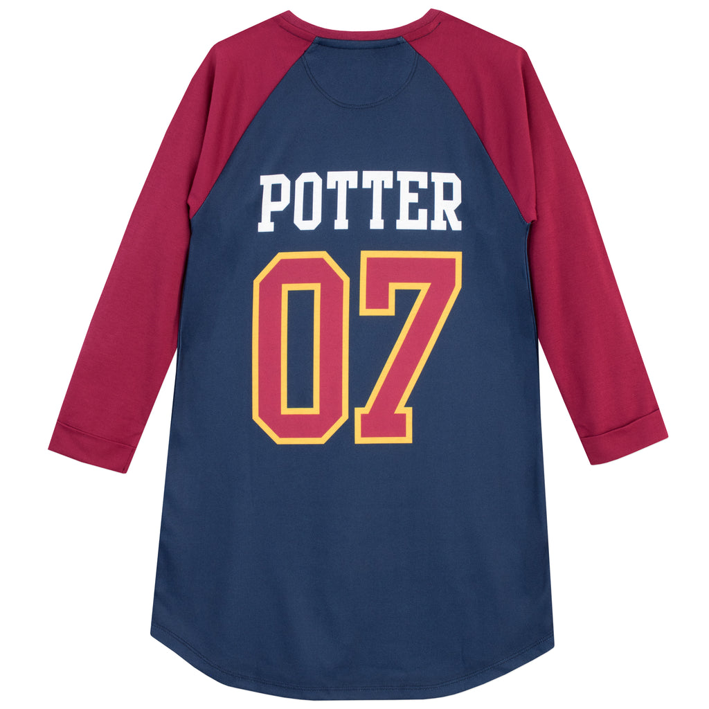 Ladies Nightshirt HARRY POTTER GRYFFINDOR CAPTAIN Nightie Pyjamas Sizes 6 to 24