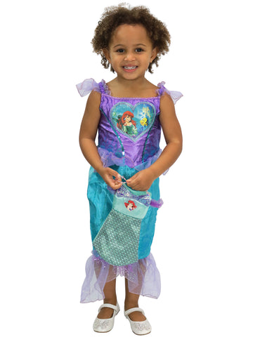 Disney The Little Mermaid Fancy Dress with Bag - Ariel
