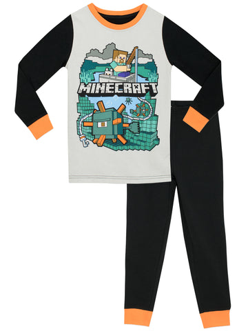 Boys Minecraft Snuggle Fit Pyjamas