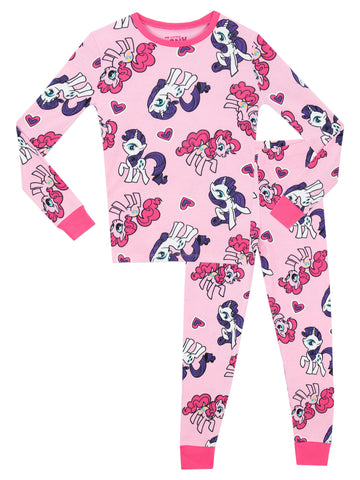 My Little Pony Snuggle Fit Pyjamas - Rarity & Pinkie Pie