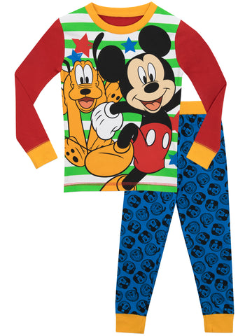 Disney Mickey Mouse and Pluto Snuggle Fit Pyjamas