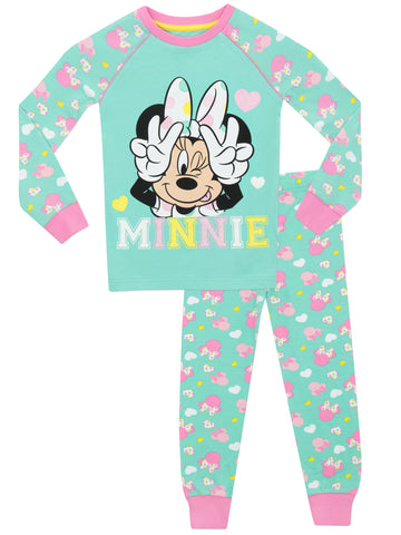Girls Minnie Mouse Snuggle Fit Pyjamas