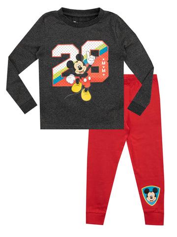 Boys Disney Mickey Mouse Pyjamas - Snuggle Fit