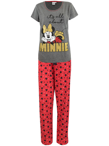 Womens Minnie Mouse Pyjama Set