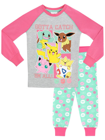 Girls Pokemon Snuggle Fit Pyjamas