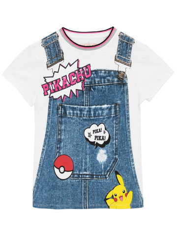 Girls Pokemon T-Shirt - Pikachu