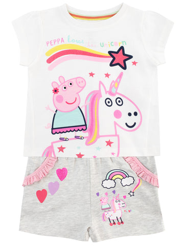 Peppa Pig T-Shirt & Shorts Set