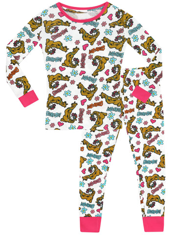 Girls Scooby Doo Snuggle Fit Pyjamas
