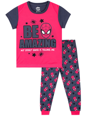 Marvel Spiderman Short Sleeve Pyjamas