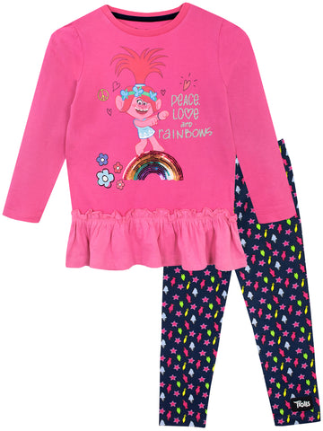 Trolls Top & Leggings Set