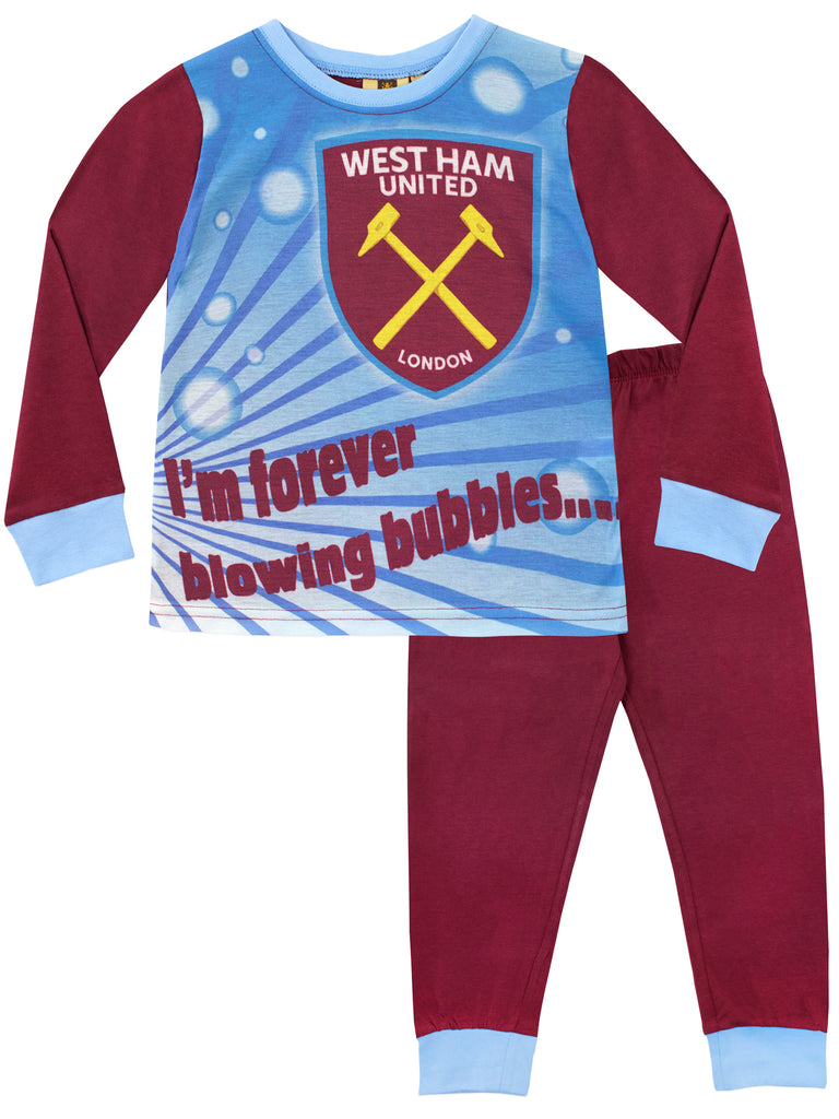 Boys Official West Ham United WHU Football Club Crest Pyjamas 4 to 12 Years