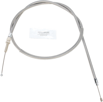 Stainless Clear-Coated Clutch Cable