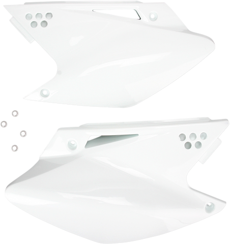 Acerbis Side Panel Number Plates White